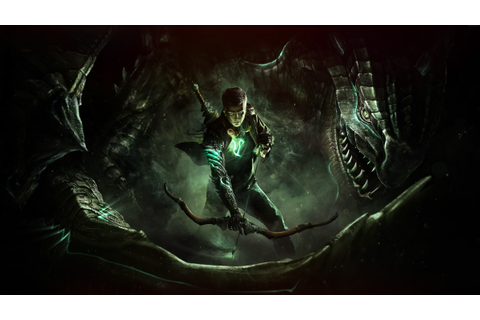 Wallpaper Scalebound, game, fantasy, archer, dragon, green ...