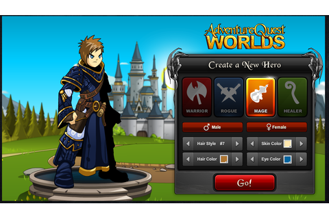 "MMORPG for free ""Adventure Quest World"" 