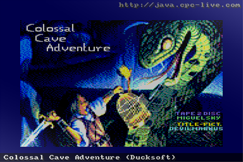 Colossal Cave Adventure (Ducksoft) - JavaCPC games site