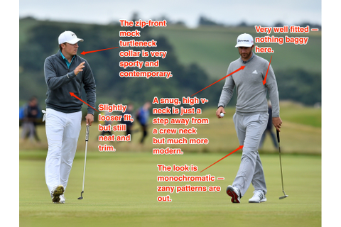The British Open golf tournament is a feast of fashionable ...