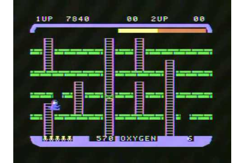 Space Panic (Colecovision) Gameplay - YouTube