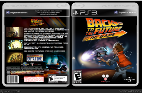 Back To The Future: The Video Game PlayStation 3 Box Art ...