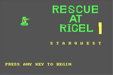 ... to run StarQuest: Rescue at Rigel, read the abandonware guide first