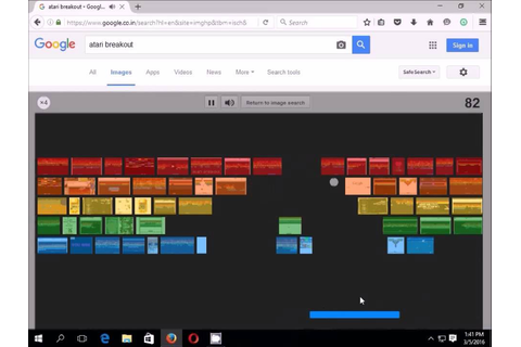 How to Play Google's Classic Atari Breakout Game - Google ...