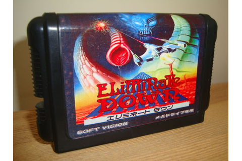 Eliminate Down - Sega Megadrive Game - Catawiki