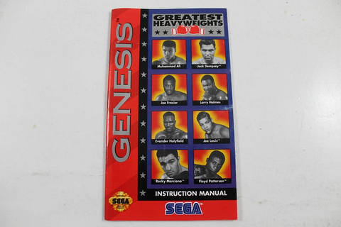 MANUAL - GREATEST HEAVYWEIGHTS - SEGA GENESIS