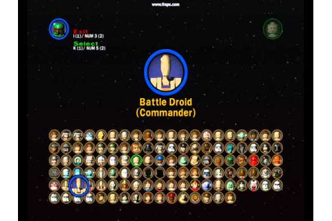 lego star wars 2 all characters (and characters ep1-3 ...