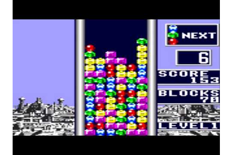 Columns Game Sample - Game Gear - YouTube