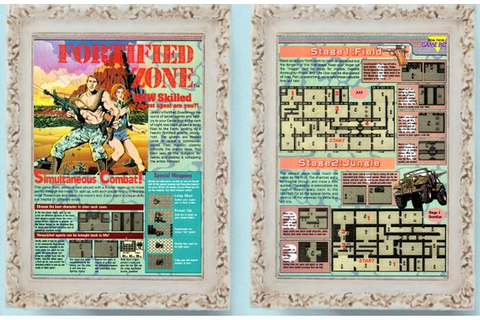 2 Page FORTIFIED ZONE Nintendo Game Boy Vintage Video Game Ad