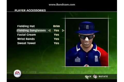 How to Create Player in Cricket 07 (2007) Game ? - YouTube
