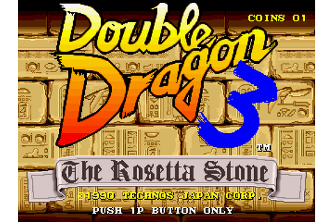 Double Dragon 3: The Rosetta Stone (1990) by Technos ...