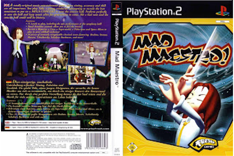 Base Um Gtba: Mad Maestro - Capa & Label Game PS2