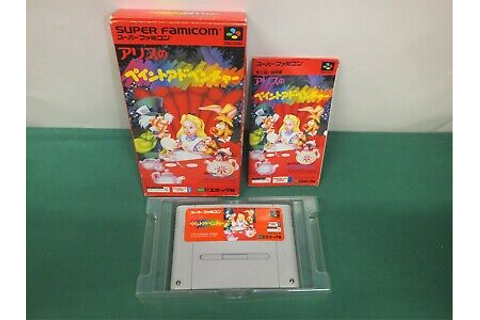SNES - ALICE NO PAINT ADVENTURE - Boxed. Super Famicom ...