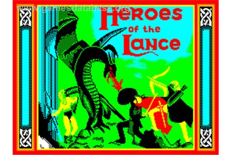 Heroes of the Lance - Sinclair ZX Spectrum - Games Database