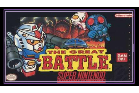 SNES Super Side Quest - Game # 9 - SD The Great Battle ...