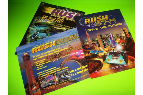 San Francisco Rush Lot Of (3) NOS Video Arcade Game Flyers ...