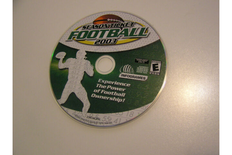 Season Ticket Football 2003 PC Game (#i0r) | eBay