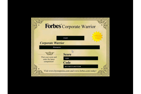 Скриншоты Forbes Corporate Warrior на Old-Games.RU