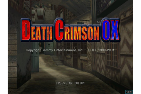 Death Crimson OX for Sega Dreamcast - The Video Games Museum