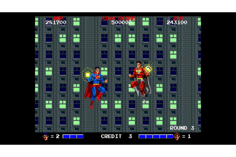 Superman arcade 2 player Netplay game - YouTube