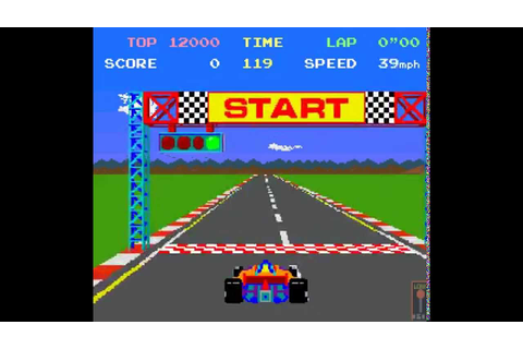 Arcade Game: Pole Position (1982 Namco/Atari) - YouTube