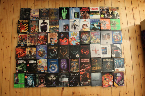 Retro PC Game Collection | This is a shot of my complete ...