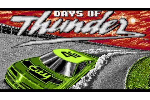 Days of Thunder gameplay (PC Game, 1990) - YouTube