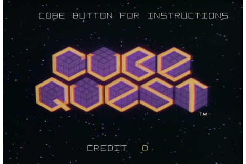 Cube Quest arcade video game by Simutrek, Inc. (1983)