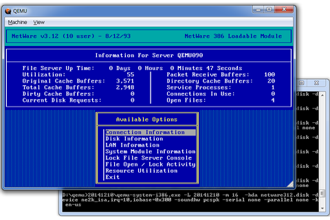 Novell Netware 3.12 once more runs on Qemu! | Fun with ...