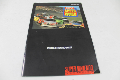 Manual - Espn Speedworld - Snes Super Nintendo