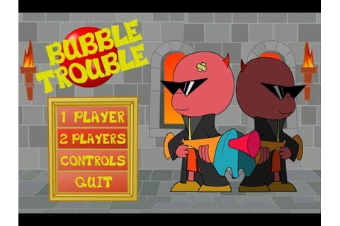 bubble trouble game play - YouTube