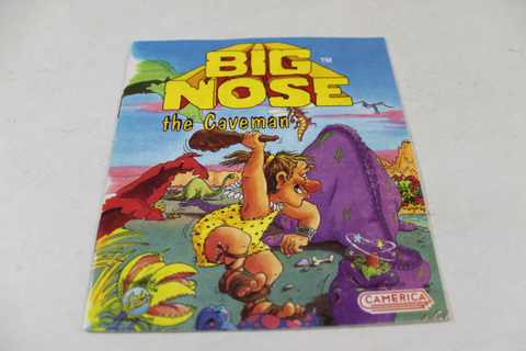 Manual - Big Nose The Caveman - Rare Nes Nintendo