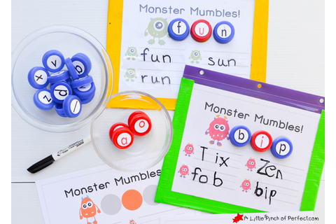 Monster Mumbles Phonics Game and Free Printable to Make ...