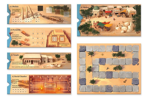 Amazon.com: Imhotep Builder of Egypt Board Game: Toys & Games