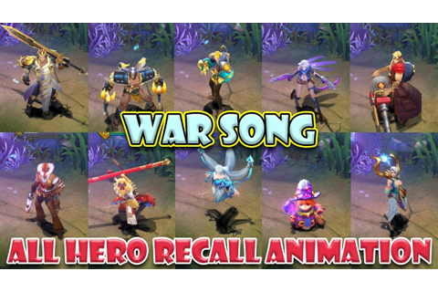 War Song All Hero Recall Animation - YouTube