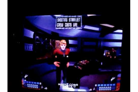 Star Trek Voyager the arcade game bootup - YouTube