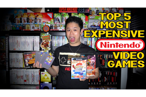 Top 5 Most Expensive Nintendo Video Games - YouTube
