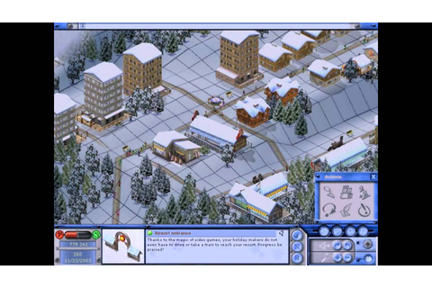 Ski Park Manager 2003 PC 2002 Gameplay - YouTube