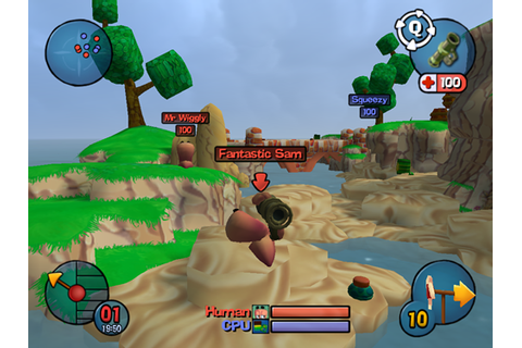 Worms 3D Game - Hellopcgames
