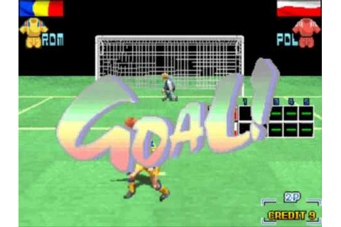 Taito Power Goal - arcade soccer game - 1994 - YouTube