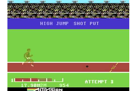 Commodore 64 Decathlon (1983) (Activision) - YouTube