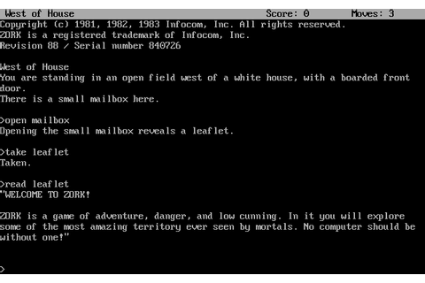 Zork The Great Underground Empire (1980)(Infocom) Game