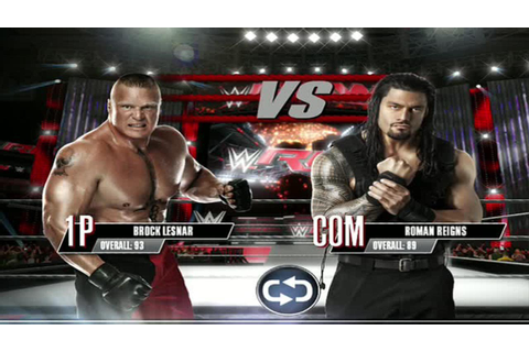WWE 2K Mobile - Brock Lesnar vs Roman Reigns Gameplay [ HD ...