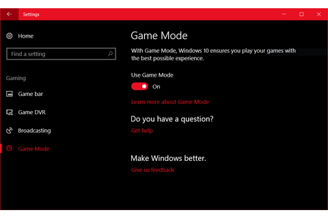 How to enable (and disable) Game Mode in the Windows 10 ...