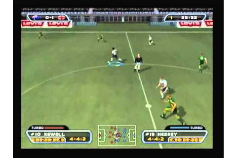 PS2 - Red Card Soccer - World Conquest - Match 1 - England ...