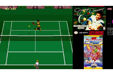 SNES A Day 131: Jimmy Connors Pro Tennis Tour - YouTube