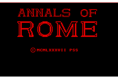 Annals of Rome (1987) by PSS Atari ST game