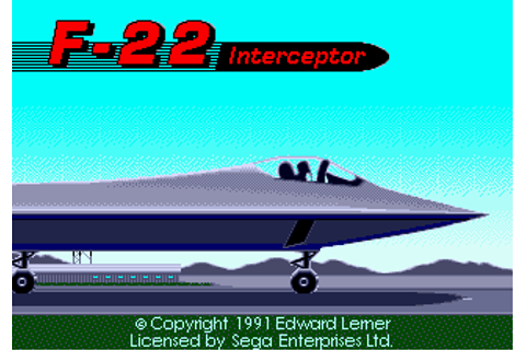 Play F-22 Interceptor Sega Genesis online | Play retro ...