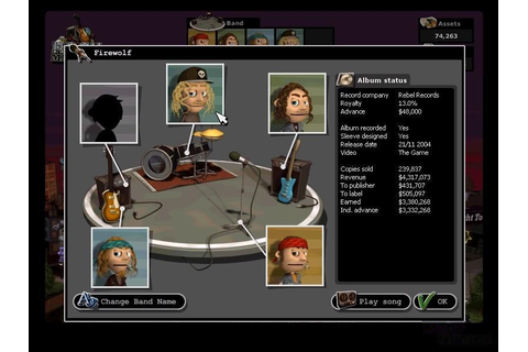 Rock Manager Download (2002 Simulation Game)