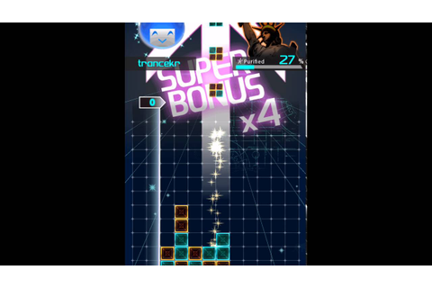 LUMINES Puzzle & Music (iOS) - Hard Mode - YouTube